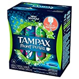 Tampax Pocket Pearl Unscented Super Absorbency Tampons, 18ct