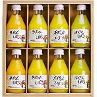 伊藤農園 100%ピュアジュース 180ml×8本ギフトセット みかんジュース オレンジジュース 有田みかん 国産 無添加 ストレート 100%