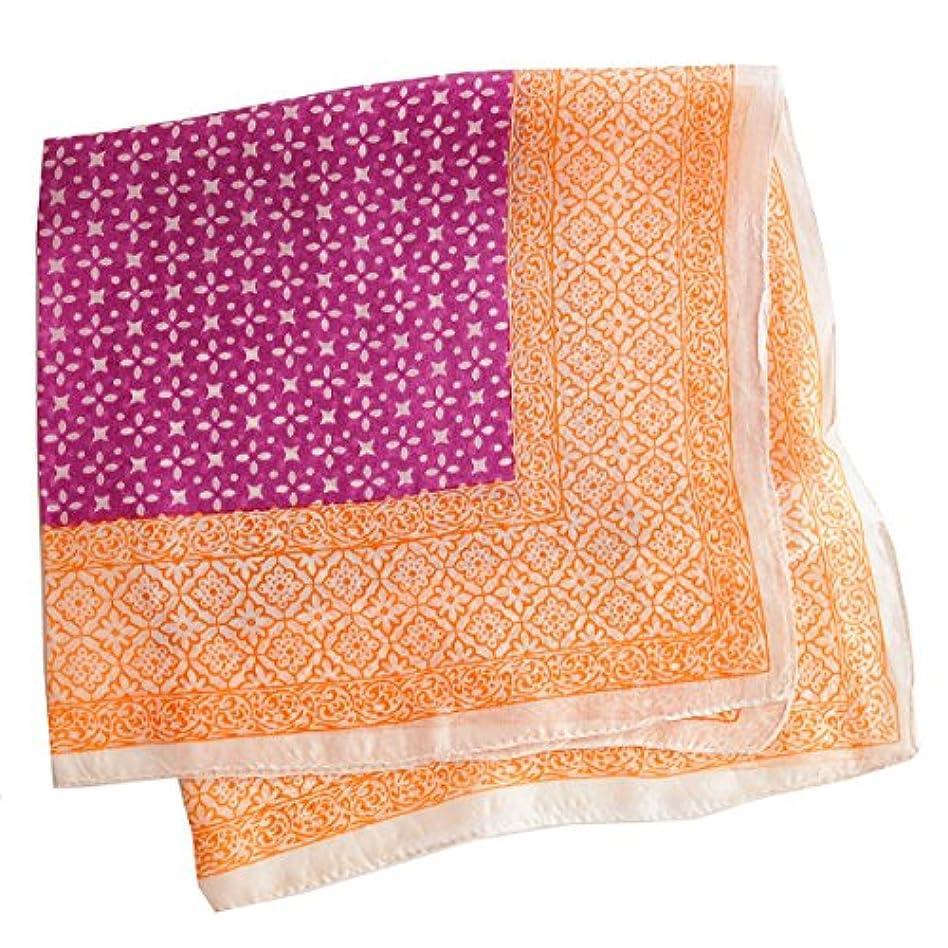 いたずら採用新鮮なフランスデザイン 正方形 ミニ シルクスカーフ ローズ/オレンジ