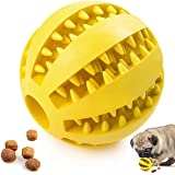 Dog Chew Toy, Dog Teething Toy Ball, Fetch & Chase Toys Pet Food Treat Ball Puzzle Interactive, Toys for Aggressive Chewers,