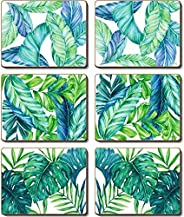 Cinnamon Tropical Leaves Placemats