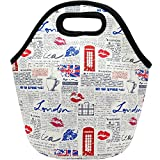 [レイジードッグ]Lazy Dog Warehouse Neoprene Lunch Bag Insulated Lunch Tote Bags for &Lunch Boxes for Kids &Adults [並行輸入品]