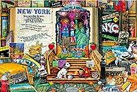 1000ピース ジグソーパズル オープンブック ニューヨーク(50x75cm)