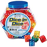 Learning Resources Dice In Dice Bucket, Set of 72
