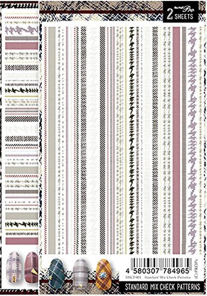 判読できない自動的にアラブサラボSha-Nail Pro ネイルシール スタンダードミックスチェックパターンズ SMCP-001 アート材