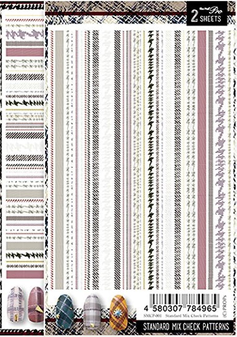 クロールメガロポリス飢饉Sha-Nail Pro ネイルシール スタンダードミックスチェックパターンズ SMCP-001 アート材