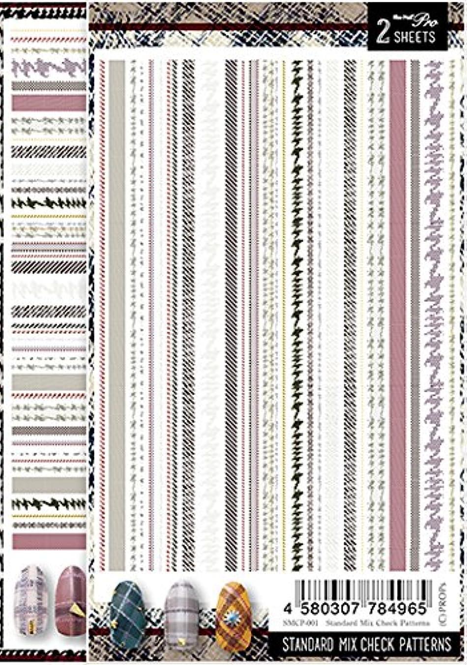 綺麗な花火傷Sha-Nail Pro ネイルシール スタンダードミックスチェックパターンズ SMCP-001 アート材