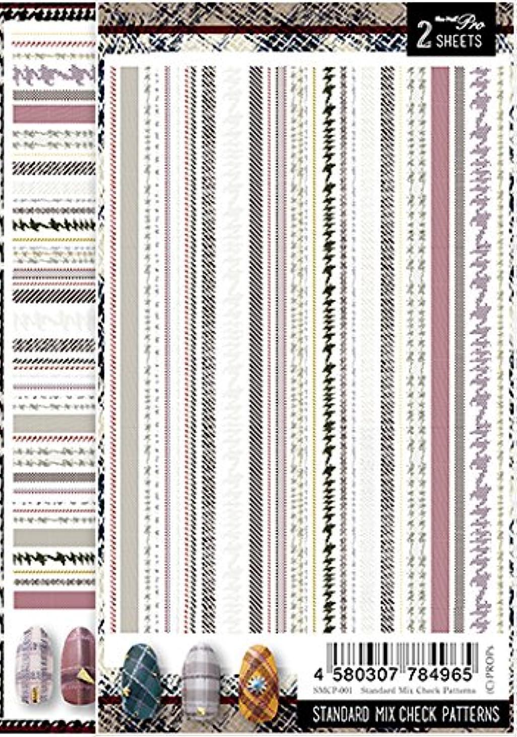 拍車乳農業のSha-Nail Pro ネイルシール スタンダードミックスチェックパターンズ SMCP-001 アート材