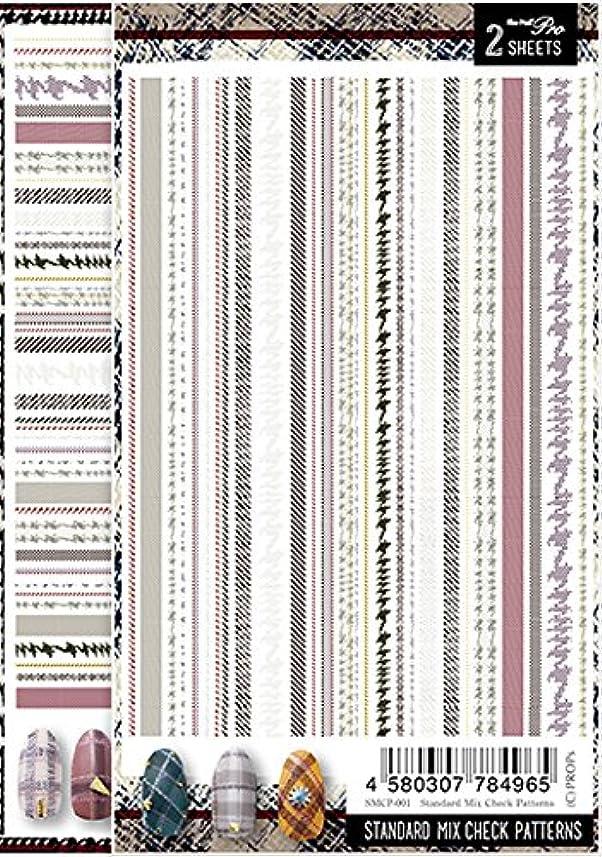 自分自身適性風変わりなSha-Nail Pro ネイルシール スタンダードミックスチェックパターンズ SMCP-001 アート材