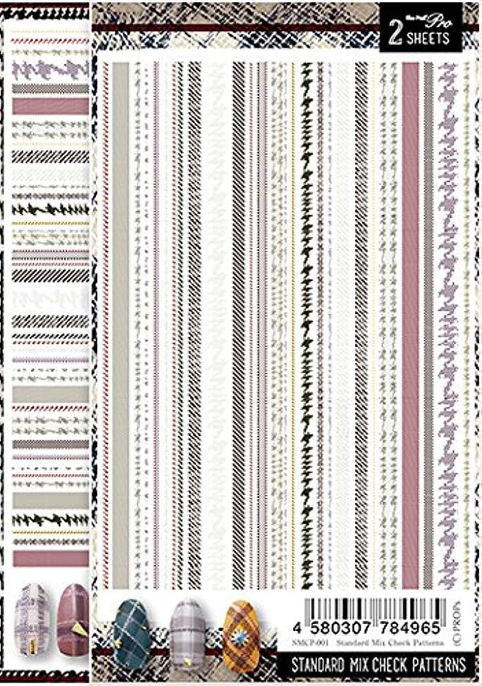 持ってる尊敬するレポートを書くSha-Nail Pro ネイルシール スタンダードミックスチェックパターンズ SMCP-001 アート材