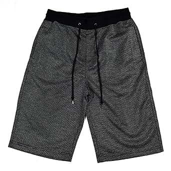 EXCUSE カット素材 変わり織り サマーツイード ウエストリブショーツ 8253-530 02.MIXブラック,LL