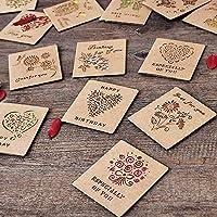 Zhi Jin 20個クラフト紙 グリーティングカード 誕生日おめでとう お祝いカード