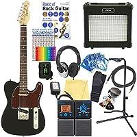 エレキギター 初心者セット テレキャスタータイプ 18点セット Legend LTE-Z TTBK/R 【ZOOM G1on マルチエフェクター付】