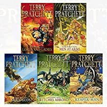 discworld novel series 3 :11 to 15 books collection set (reaper man, witches abroad, small gods, lords and ladies, men at arms)