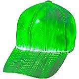 1clienic Luminous LED Baseball Cap 7 Colors Glow Hat Unisex DJ Light Up Rave Fiber Optic LED EDC Hats Rave Concert Father's D