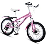 Bicycles Pink Bicycle 20-Inch Pupil Bike Girl Bicycle Speed ??Mountain Bike Suitable for Girl Who Ride On Bicycles (Color: Pi