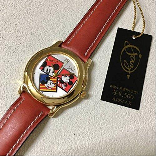 新品 未使用 ALBA JAZ MICKEY AJ096AX アルバ ジャズ ミッキー 腕時計 クオーツ ディズニー 専用箱付き 電池交換済み レア