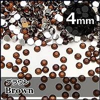 激安ダイヤカットストーン「ブラウン」4mm×約100個
