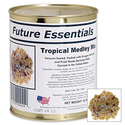 Future Essentials 12オンス トロピカルメドレーフルーツとナッツミックス 真空包装...