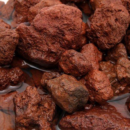 赤溶岩石 3リットル 溶岩 小石