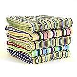 今治産 タオル 色柄おまかせ 残糸で作ったエコなタオルセット 日本製  (フェイスタオル34×80cm 5枚組)