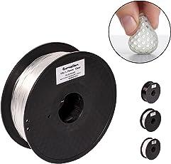 Pxmalion Flexible TPU 3Dプリンター用FLEX弾性樹脂フィラメント素材 フレキシブルマテリアル弾性曲がりやすい 柔軟性も耐久性も優れる 1.75mm径 正味量1KG(2.2LB) 精確度+/- 0.03mm だいぶの3Dプリンターが適用 (透明/クリア)