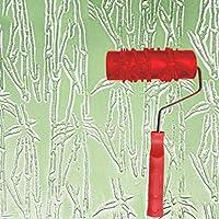 エンボスローラー、液体壁紙壁アートアートペイント印刷珪藻土泥テクスチャアート塗料建設ツール5インチ (色 : E)