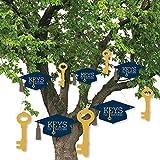 Hanging Grad Keys to Success - Outdoor Graduation Party Hanging Porch & Tree Yard Decorations - 10 Pieces [並行輸入品]