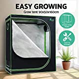 90 x 50 x 160cm Greenfingers Grow Tent Hydroponics Plant Tarps Shelves Kit