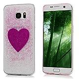 エルメス 財布 YOKIRIN Samsung Galaxy S7 ケース 流砂 キラキラ 夜光式 Galaxy S7 リラックス 超軽量 極薄 落下防止 防指紋 散熱加工 シンプル 保護バンパー 弾力性付き アンチスクラッチ スマートフォンカバー Galaxy S7 カバー ハート