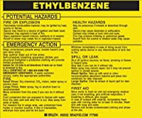 Brady 93532 Hazardous Material Label:Dot 5800.4-1987 3 3/4 Height x 4 1/2 Width Black on Yellow Legend Ethylbenzene (25 per Package) [並行輸入品]
