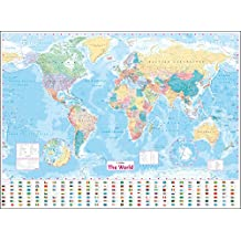 Collins World Wall Laminated Map [New Edition]