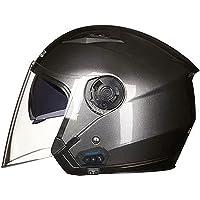 ジェットヘルメット バイクヘルメット 原付 半帽ヘルメット メンズ レディース ダブルシールド オートバイ Helmet…
