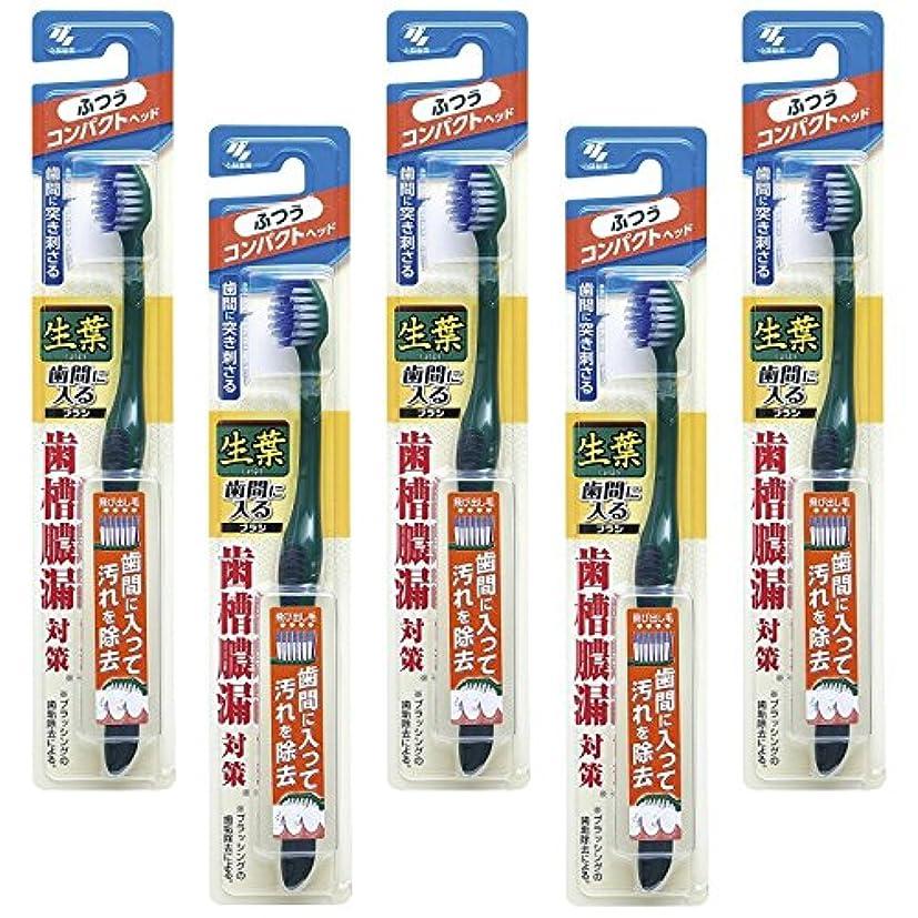 馬力ミネラルアルファベット【まとめ買い】生葉(しょうよう)歯間に入るブラシ 歯ブラシ コンパクト ふつう×5個