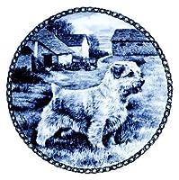 デンマーク製 ドッグ・プレート (犬の絵皿) 直輸入! Norfolk Terrier / ノーフォーク・テリア