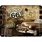 ルート66 Route 66 Road Trip / ブリキ看板 TIN SIGN アメリカン雑貨 インテリア