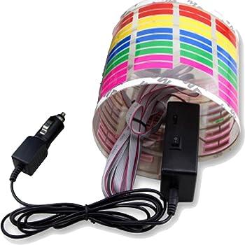 (Muu3) テープライト サウンド連動 カーフィルム 車 カーイルミネーション 室内 シート イコライザー