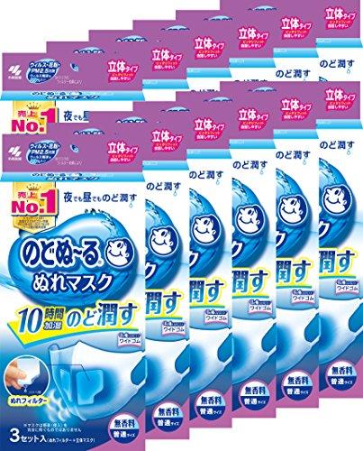 【まとめ買い】のどぬ~るぬれマスク 立体タイプ 無香料 普通サイズ 3セット ×12個