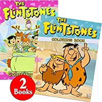 The Flintstones Coloring and Activity Book Set (2 Books ~ 96 Pages) [Floral] [並行輸入品]