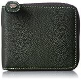 [キタムラ] 二折財布 ラウンドファスナー二折財布 YH0083 32311 ダークグリーン/ライトグリーンステッチ
