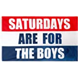 Saturdays are for The Boys Flag, 3x5 Feet, Polyester Cloth UV Resistant Fading Boy Saturday Flag, Perfect for College Footbal