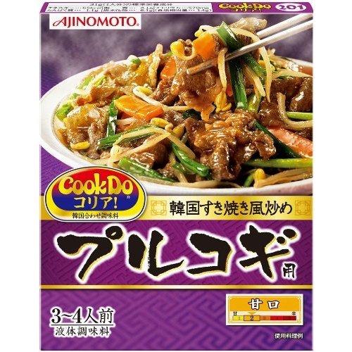 Cook Do コリア! 韓国すき焼き風炒め プルコギ用 甘口 3-4人前