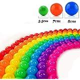 Mazhashop カラーボール 7色 50個入り 直径7cm 大きいサイズ【ボールプール/キッズハウス用】 収納袋付