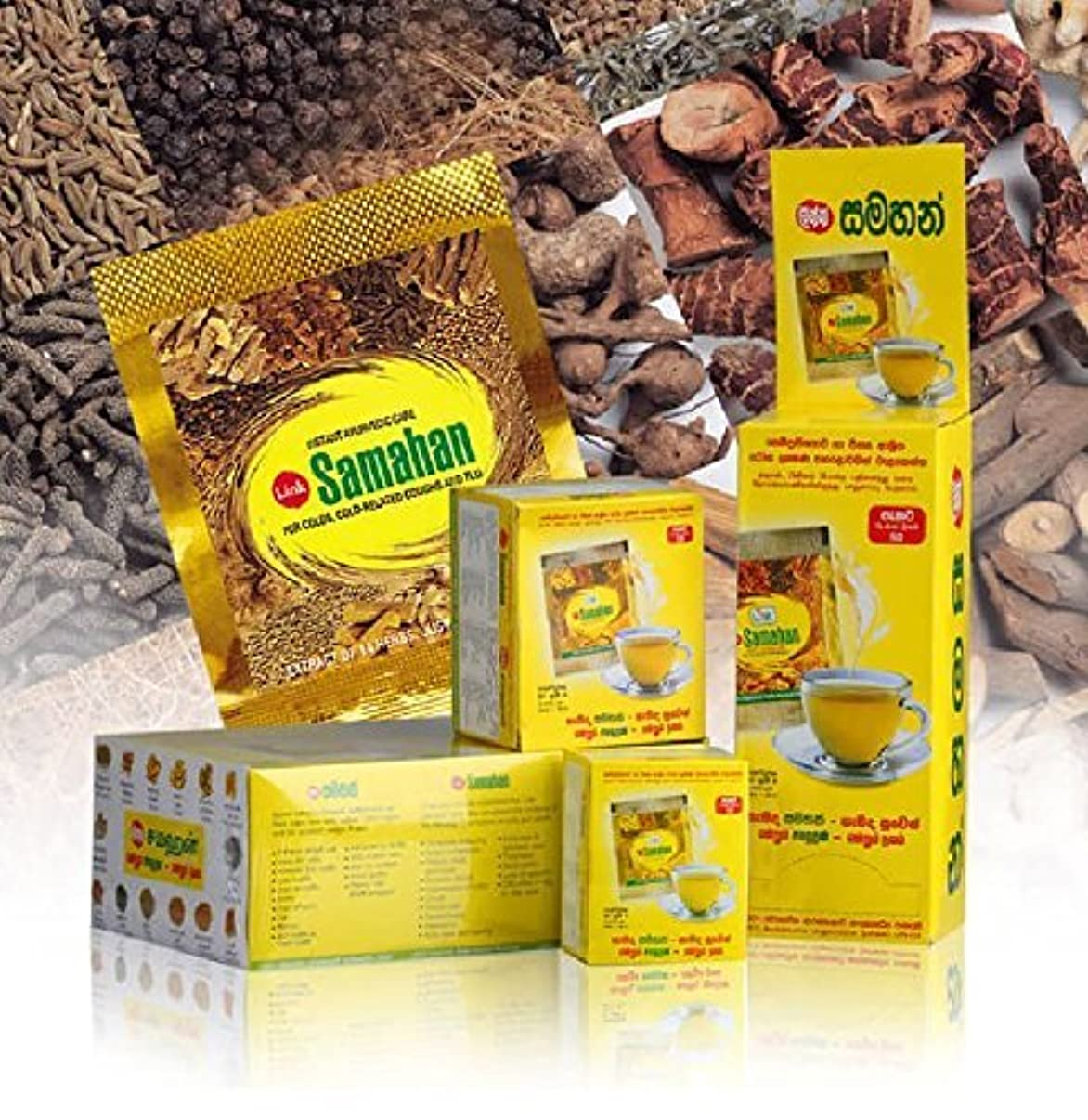 シニス老人雷雨25 Packs Link Samahan Ayurvedic Herbal Tea Packets by link natural