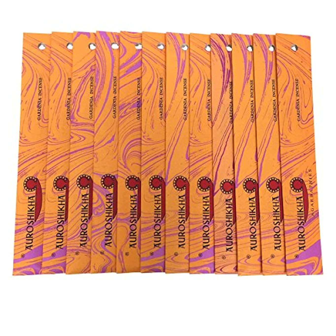 。運命的なサイレントAUROSHIKHA オウロシカ(GARDENIAガーデニア12個セット) マーブルパッケージスティック 送料無料