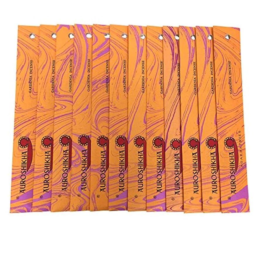 座る光景写真を描くAUROSHIKHA オウロシカ(GARDENIAガーデニア12個セット) マーブルパッケージスティック 送料無料