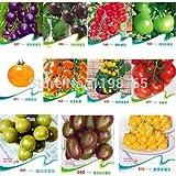 100本11kinds異なる色の味トマトの種子フルーツ野菜盆栽ゼブラトマトSEEDSパープルチェロキーチェリーブラックブルー