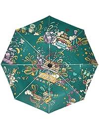 KASAMO折りたたみ傘 レディース 晴雨兼用 軽量 紫外線傘 UVカット誕生日おめでとう