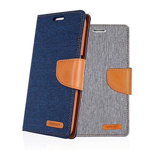 Galaxy S4 ケース Mercury Goospery Canvas Diary Case ギャラクシー S4 手帳型 ケース ネイビー・キャメル(Navy/Camel) / SC-04E 携帯 スマホ スマートフォン モバイル ダイアリー ケース カバー カード 収納 ポケット スロット スタンド