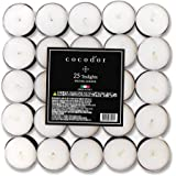 Cocodor Scented Tealight Candles/Winter Jasmine / 25 Pack / 4-5 Hour Extended Burn Time/Made in Italy, Cotton Wick, Scented H